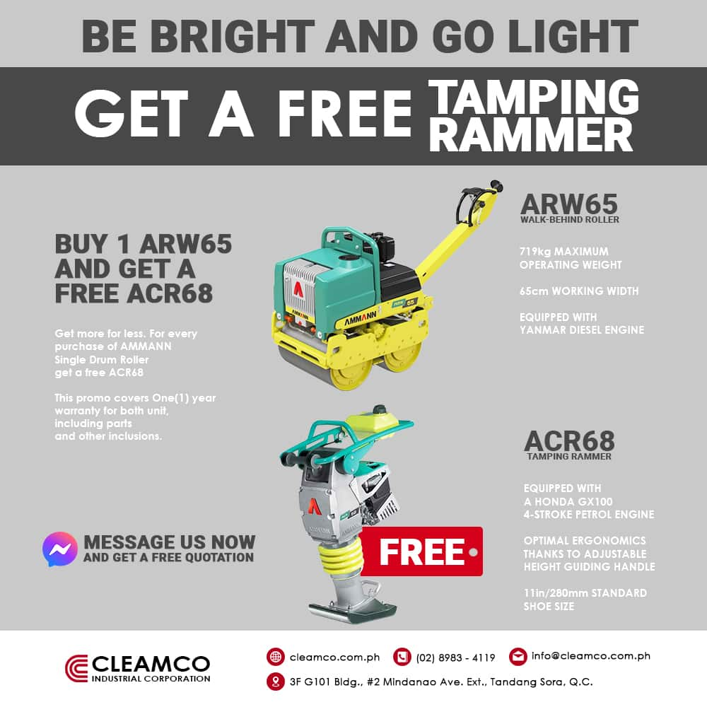 Buy 1 Get 1 Promo of Walk-behind roller and Tamping Rammer